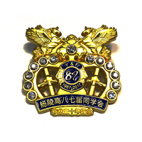 Gold plating 3D type hollow out badge