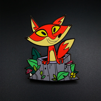 "Zinc Alloy Hard Enamel Pin 9 colors ""Lovely Fox"""