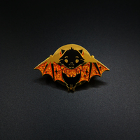 "Customized hard enamel pin ""Bat"""