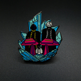 Glow in the dark hard enamel pin